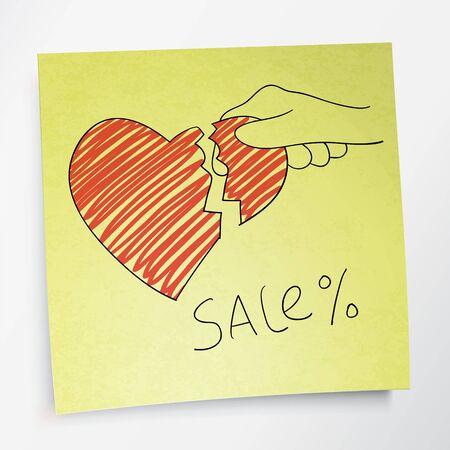 love of money: Valentine`s holidays sale concept.