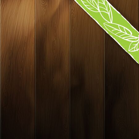 Abstract wood background. Contrast and saturation of wooden texture editable by disabling layers (marked as on/off). Vector