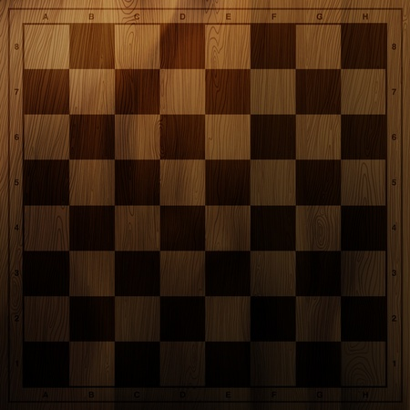 chess move: Vintage chess board background.