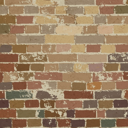 Old brick wall pattern.  Vector