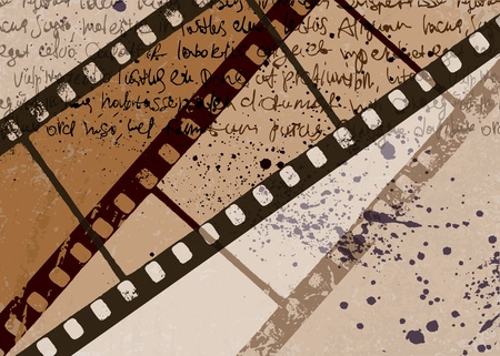 hollywood movie: Grunge textured film frame abstract.