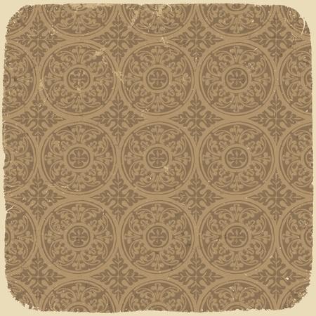Invecchiato vintage background con l'antica pattern seamless.