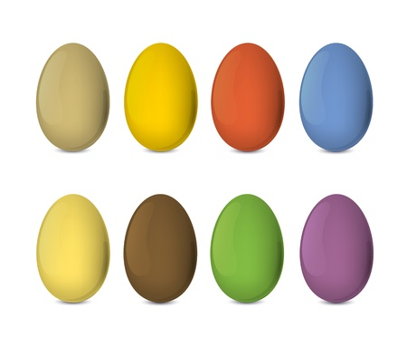 Easter eggs set. Colorful, realistic . Vector