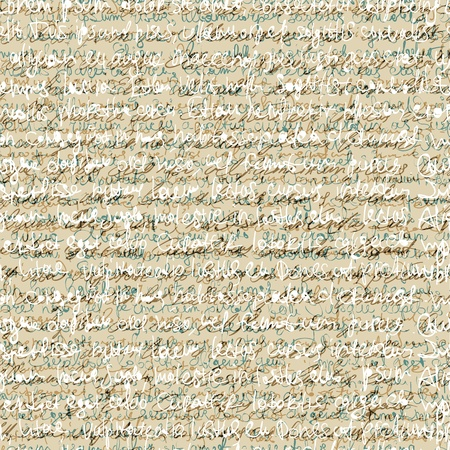 written: Seamless abstract handwriting pattern.