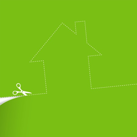 home value: Ecological housing concept illustration. Vector