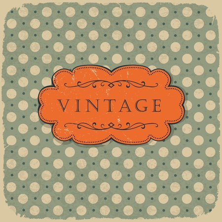 Polka dot design, vintage styled background. Vector