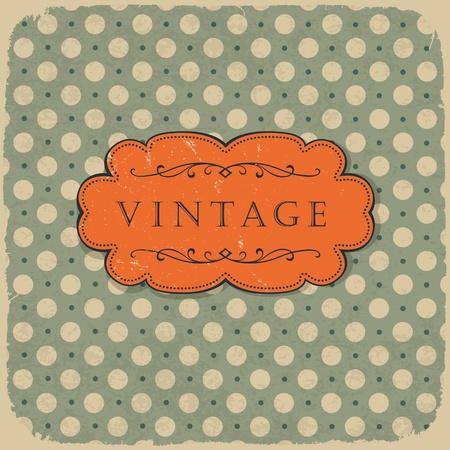 Polka dot design, vintage styled background. Vector