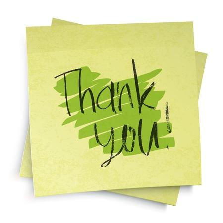 gratitudine: Grazie! Illustrazione vettoriale.