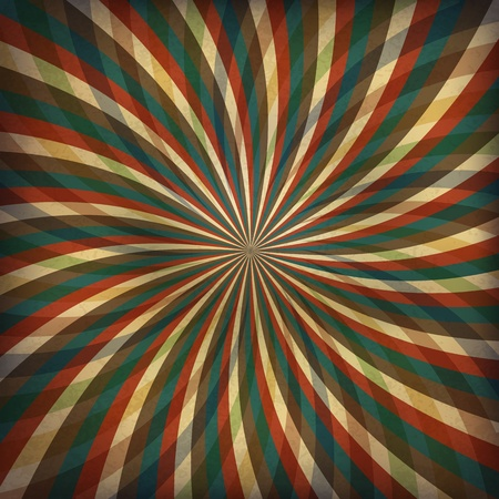 Vintage swirl rays background. Vector