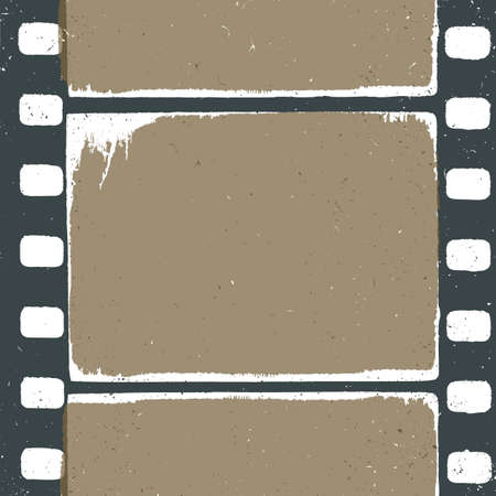 expose: Empty grunge film strip design, may use as a background or overlays.