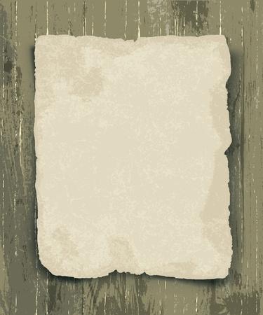 antikes papier: Altes Papier auf dem Holz Hintergrund Illustration