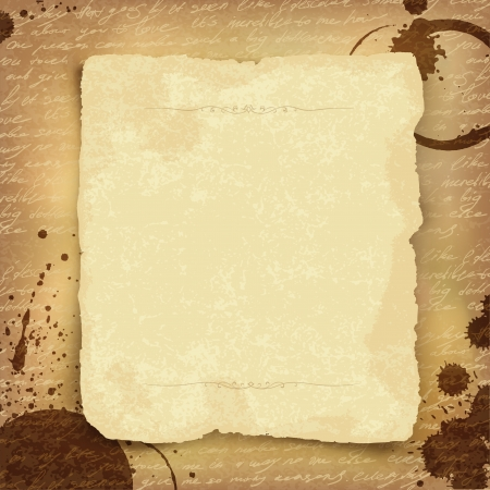impress: Abstract ancient manuscript background with space for text. Vector, EPS10 Illustration