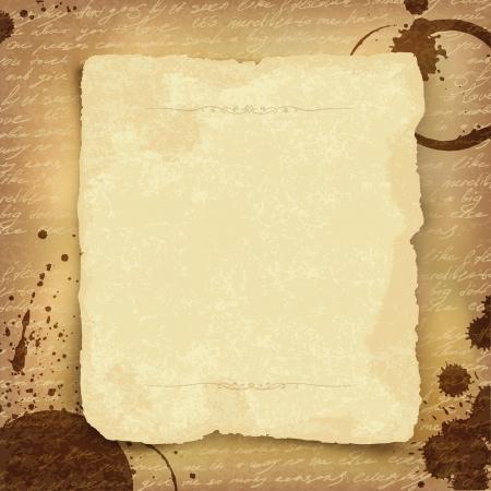 Resumen de fondo antiguo manuscrito con espacio para texto. Vector, EPS10