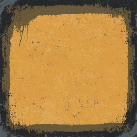 Black-Yellow Grunge Frame. Vector, EPS10 Stock Vector - 14155117