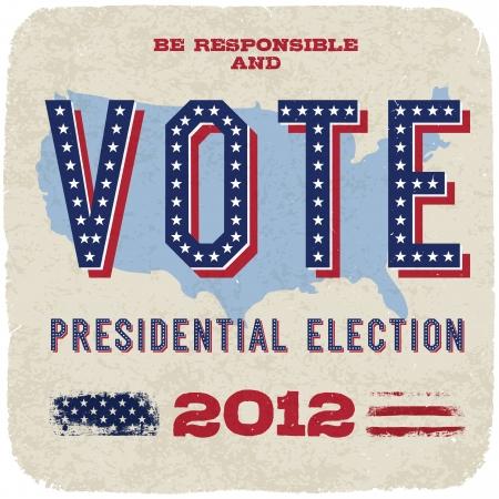 nomination: Las elecciones presidenciales de 2012. Vector, eps10.