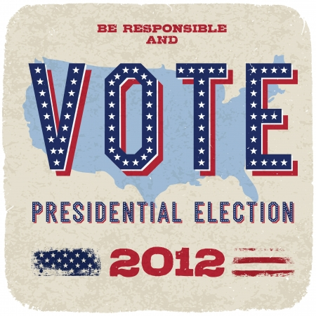 suffrage: Presidential election 2012. Vector, eps10.