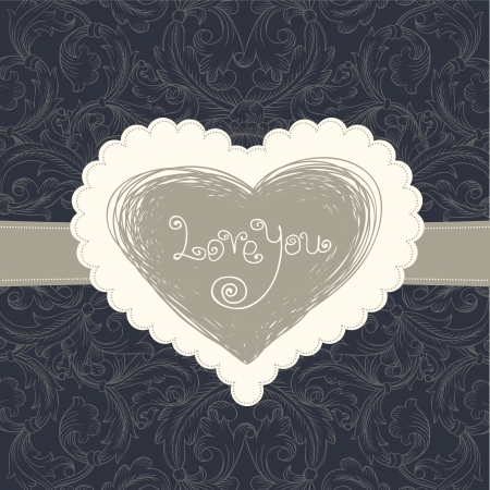 Wedding card template, vector eps10 Vector