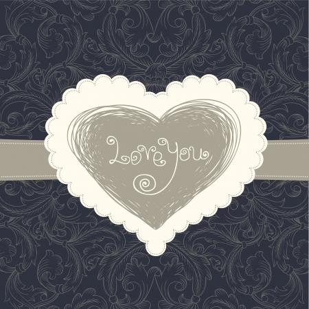 Wedding card template, vector eps10 Stock Vector - 14155099