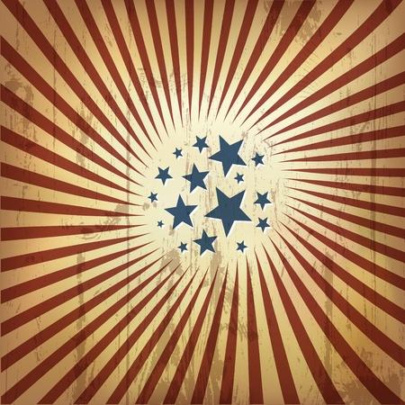 American patriotic retro background. Vector, eps10 Vector