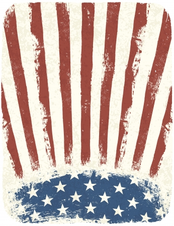 American patriotic poster background. Vintage style poster template, Vector, EPS10 Vector
