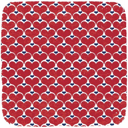 Hearts symbols ornament in american national colors. Abstract vector background, EPS 10. Stock Vector - 14156232