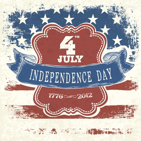 4th of july: Poster for Independence Day Celebration. Vector, EPS10 Illustration