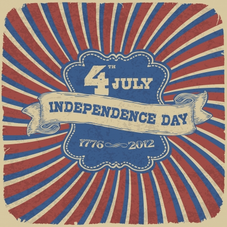Independence Day Retro Style Abstract Background  Vector illustration, EPS 10