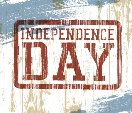 Independence day stamp on wooden background  Vector illustration, EPS10  Vector