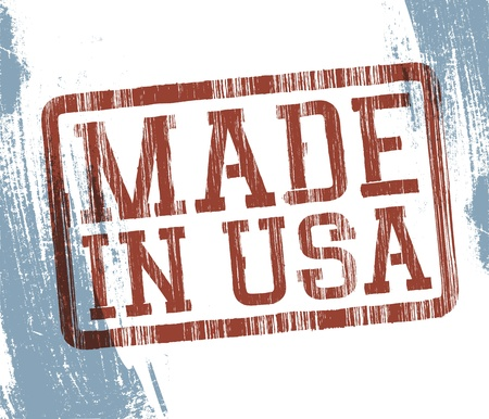 Made in USA stamp  Vector, EPS10 Stock Vector - 14155327