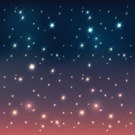 Night sky with stars, EPS10 Vector