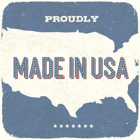 сделанный: Гордо Сделано в США Vintage Background, Vector, EPS10 Иллюстрация