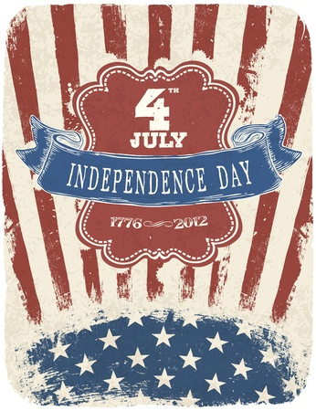 Independence Day Celebration Poster  Vector illustration, EPS 10 Vector