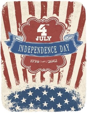 history month: Independence Day Celebration Poster  Vector illustration, EPS 10 Illustration