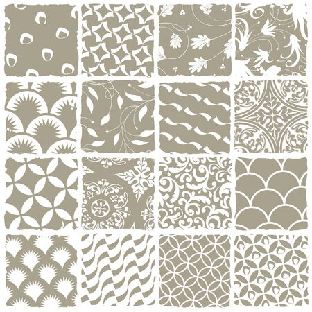 Variety styles seamless patterns set  All patterns available in swatch palette  Vector, EPS 8 Stock Vector - 14156236