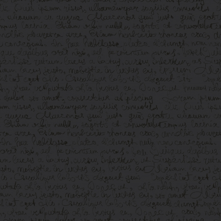 penman: Seamless abstract text pattern on dark gray background  Vector, EPS 8