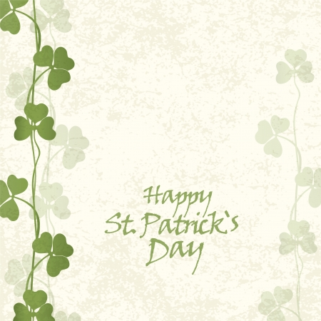 clover banners: St  Patricks Day Card