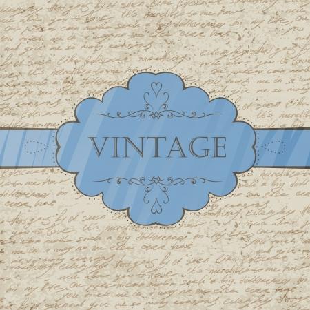 penman: Vintage style greeting card  Vector, EPS 10