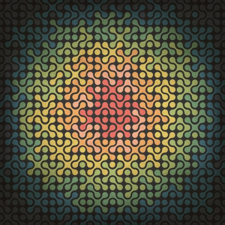 Abstract Mosaic background from joined parts with circle composition. Stock Photo - 14709049