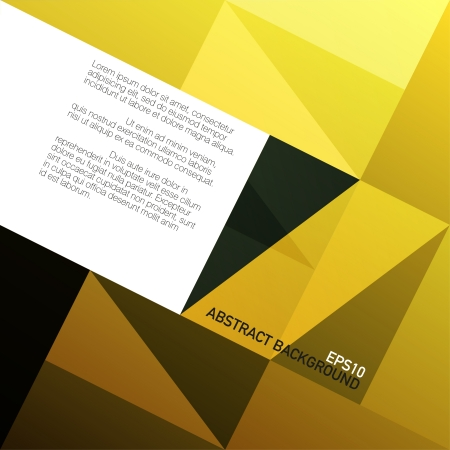 Golden triangles background with space for text photo