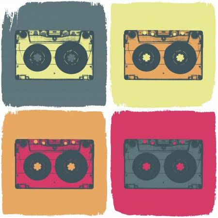 Audio cassette pop-art concept
