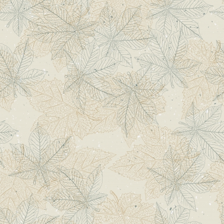 recycled paper: Autumn seamless pattern