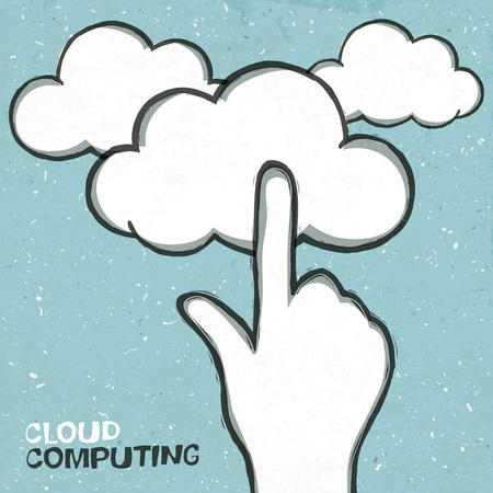 Cloud computing concept Stock Photo - 14707771