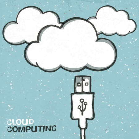 computer hardware: Cloud computing concept illustration  Stock Photo