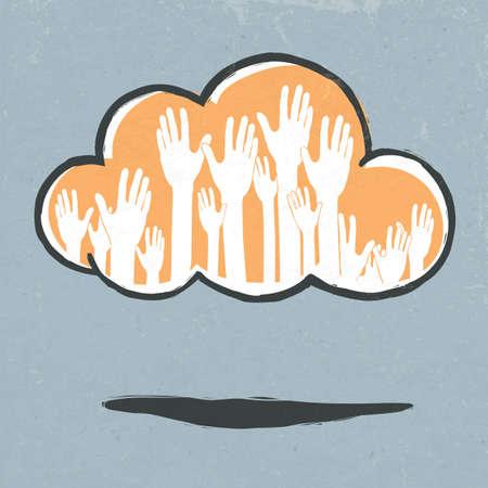 Cloud hands. Stock Photo - 14707469