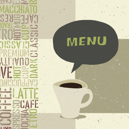 Coffeehouse menu modello photo