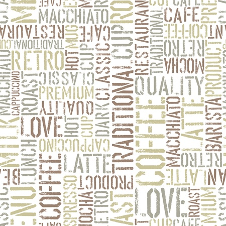 barista: Coffee seamless pattern Stock Photo