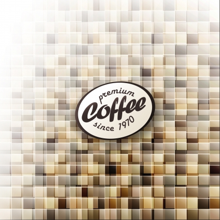 Coffee themed abstract design template.  photo