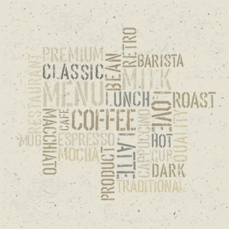 Coffee themed poster design template.   photo