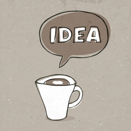 Cup of idea.   photo