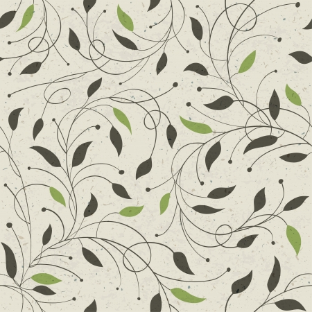 Seamless ecology pattern with leaves.  photo